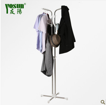 Stainless steel simple fashion hangers floor coat rack(China (Mainland))