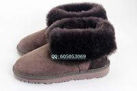 Elderly low and in wool fur one snow boots cow muscle boots fur outsole