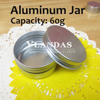 50Pcs/Lot 60ML 68x25mm Aluminum Cosmetic Box Cream Jar Wholesale Free Shipping