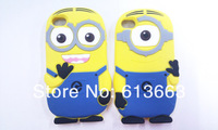 New arrival soft silicone Despicable Me minions case for iphone 4/4s cell phone cases covers,free shipping