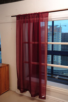 Curtain for Flat or French window screening solid Burgundy color size 152*206cm free shipping