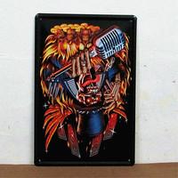 Metal crafts of wedding !! Cartoon metal signs Art wall decor House Cafe Bar Vintage metal painting B-07 20*30 CM