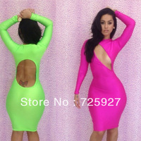 Free shipping New Arrival 2013 bandage dress Spendex Cut Out Back bodycon dress sexy women Slim dresses For Club