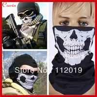 New Halloween Skull Skeleton Outdoor Motorcycle Bicycle Multi function Headwear Hat Scarf Half Face Mask Cap Neck Ghost Scarf