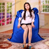 FREE SHIPPING 140*180CM ocean blue bean bag covers LUXURY SUEDE ikea bean bag chairs garden bean bag