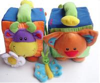 Tolo Farm Activity Cube baby soft cloth animal toy box education gift