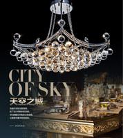 Dining room pendant light crystal lamp fashion modern pendant light bedroom lamps 10145 h t