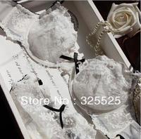 free shipping Bra underwear fashion plus size transparent sexy plus size ultra-thin white set