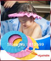 Free Shipping! Adjustable Baby Toddlers Kids Shampoo Bath Shower Hat Wash Hair Shield Soft Foam Cap Bathing Eye Ear Protection