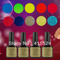 Free Shipping 12Pcs/lot 2014 New High Quality Soak Off UV Nail Gel Polish Long-lasting Nail Gel