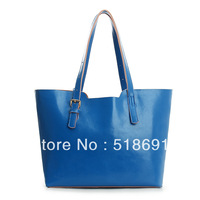 2013 genuine leather picture package women's handbag oil waxing leather cowhide handbag shopping bag