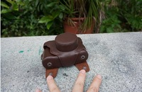 Detachable Coffee Color Leather Camera Case Bag Shoulder Strap For Fujifilm Fuji DC Digital Camera X10 X20 X100s X100