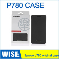 Free Shipping  Lenovo P780 Case Gift Screen Protector 100% Original Lenovo P780 Leather Case Black In Stock