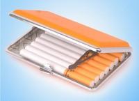 Brand Teampistol Cigarette Case 14 Cigarettes Bag Metal PU Box Yellow Women Cigarette Case #308B