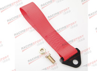 RED HIGH STRENGTH RACING TOW STRAP SET FOR FRONT/REAR BUMPER HOOK TRUCK/SUV S