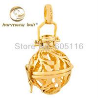 Good design cooper 18mm harmony ball plated 18k gold