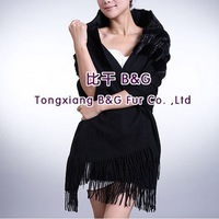 BG29557 Genuine Sheep  Fur Scarf  Female Wholesale Retail  Autumn winter female  long sheep fur shawl scarf