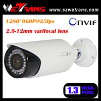 TR-SIPR730 ONVIF 2.0 2.8-12mm Varifocal Lens Outdoor 25m IR 1.3MP HD IP Camera