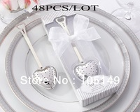 48pcs/lot Wedding favors of Heart Tea Infuser in Elegant White Gift Box wedding giveaways Free shipping the same as real photos