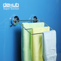 Free shipping vacuum suction cup Dishtowel  Hanger Korea DeHUB bathroom towel bar bathroom towels waterproof stainless steel