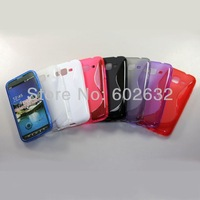 200pcs/lot free shipping S Line case, New S type Soft TPU Case For Samsung Galaxy S4 Active Mini i8580