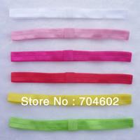 Hot Sale Shiny Thin Elastic Hair Bands Satin Ribbon Headband Kids Hair Accessories Girls Headwear 60pcs/lot Free Shipping HD09