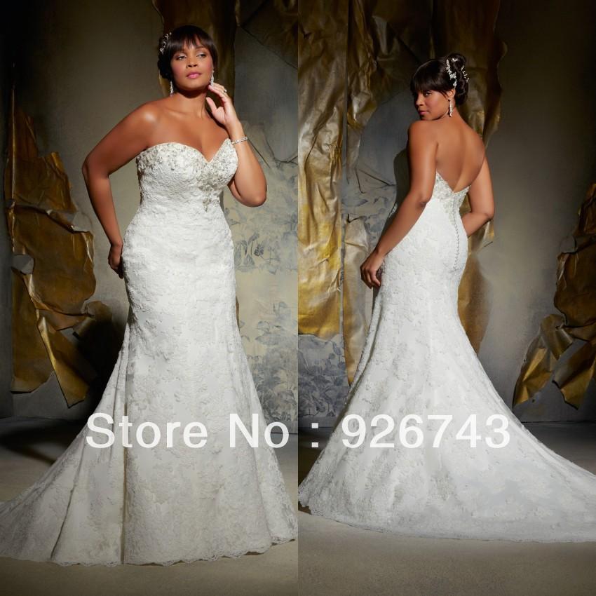 Wedding Dress Plus Size Patterns : Patterns mermaid lace plus size wedding dress in dresses