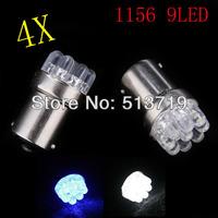 Free shipping 4 pcs/lot Wholesale Car Bulb Lamp 1156 382 BA15S P21W Turn Signal Tail Brake 9 LED Light White