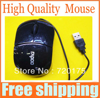 High Quality blue laser Mouse, Rapoo wire USB Optical mouse, White , Black , Free shipping