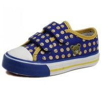 2013 WARRIOR children shoes velcro canvas shoes skateboarding shoes 1316