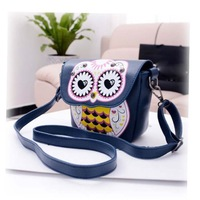Summer Hit Color Cute Owl Retro Mini Handbag Shoulder Diagonal Packets Women's