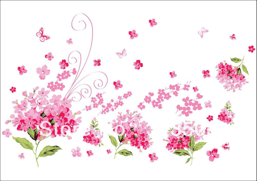 Muurstickers Slaapkamer Bloemen : ... roze bloemen uit China mooie ...