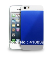 Free & Drop Shipping! 1Piece White Dual Colour Hard Back Case Cover Shell for Apple iPhone 5 5S 5G SPC051