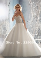 Beaded Crystal  Embroidery on TulleBridal Gown Wedding Dresses