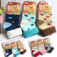 Kid's  winter towel socks 0 - 1 - 2 years old baby  thickening  thermal socks
