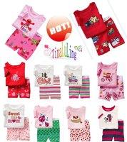 2014 New Baby Short Sleeve Summer Pajamas Baby Sleepwear Child Cotton Pyjamas Lovely Carton Pjs for 2-7years Children clothes