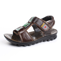 13 child sandals genuine cowhide leather sandals male child children velcro