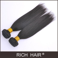 "5A Guaranteed Quality8""-30""Straight Color1#Jet Black Malaysian Hair Extension100%Human Hair Weaves Silky Straight Remy Hair Weft"