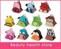Free Shipping 50pcs/lot Mini Oxford Cute Kid Children Backpack Zoo Cartoon Animal Toddlers Backpack School Bags For Children