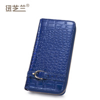 2013 patent leather wallet women's long design fashion crocodile pattern genuine leather women wallet day clutch