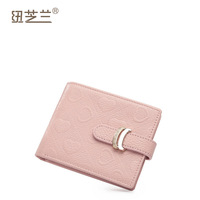 2013 first layer of cowhide wallet horizontal women's classic purse embossed wallet short design