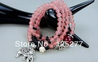 Fashion accessories Beads Bracelet Fashion Watermelon crystal Hand catenary 5pcs