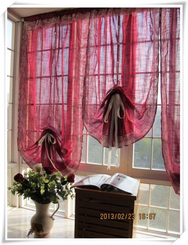 Burgundy window curtains