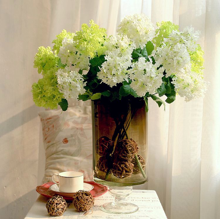 Hydrangea advanced artificial flower home decoration living room dining table flower accessories(China (Mainland))