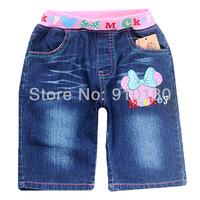 6pcs/lot baby summer Children girls cartoon minnie mouse denim shorts kids children fashion jeans