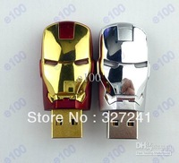 Cartoon Fashion Avengers Iron Man LED 64GB 32GB 16GB 8GB 4GB Pen Drive USB 2.0 Flash Driver Memory