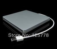 External Silver USB 2.0 Slot In 8X DVD Burner 16X CD RW 24X CD Reader DVDRW Combo Drive Slim Portable Fashion Book Player Retail