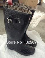 waterproof woman rain boots shoes  2014 Free Shipping
