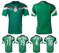 Free shipping best thai quality soccer cup 2014 G.DOS SANTOS soccer jerseys Mexico jersey AQUINO CHICHARITO football uniforms