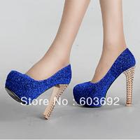 2014 new Ms. waterproof heels high-heeled shoes thick heel single shoes female shoe